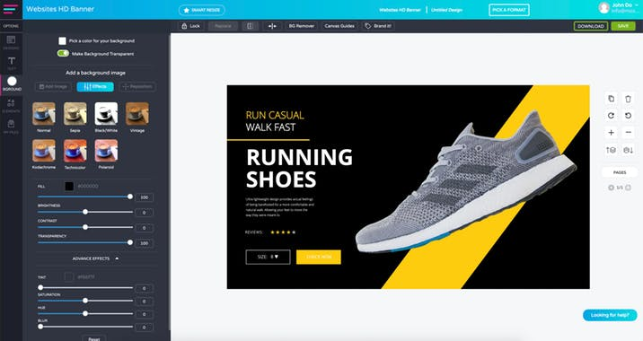 Glorify | Designing Tool For ECommerce Business 1