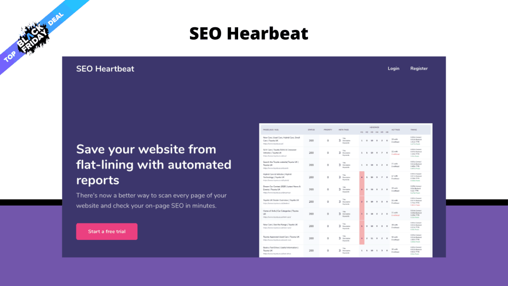 SEO Hearbeat Lifetime Deal
