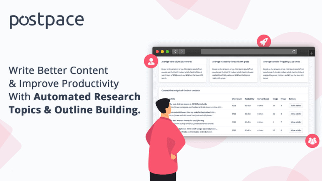 Postpace | Content Writing Research Platform 2