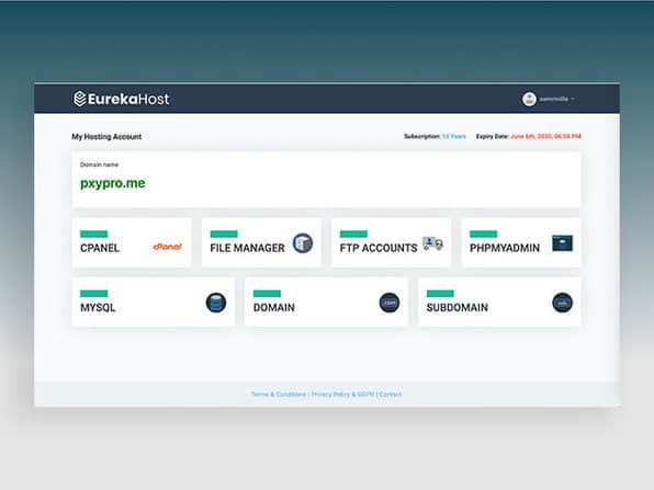 EurekaHost | Unlimited Web Hosting Plan 2