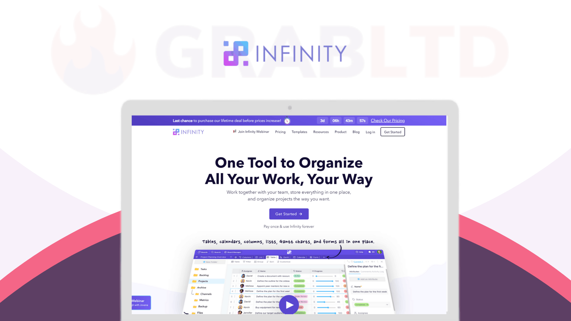 Infinity Lifetime Software Deal