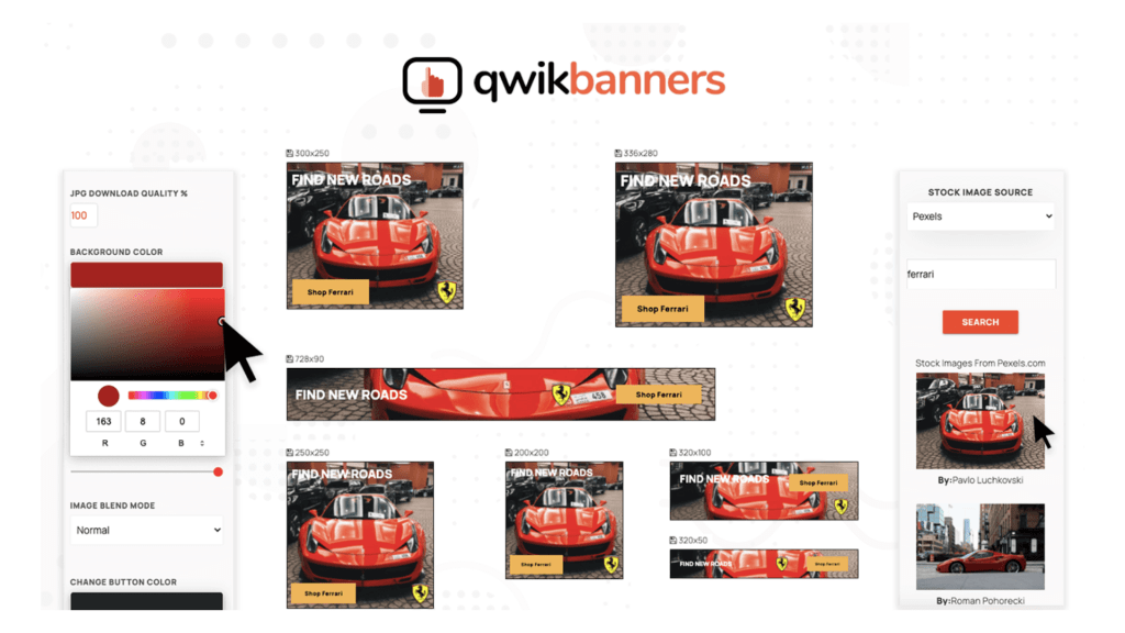 QwikBanners | Create your Brand Banners in a Click 1