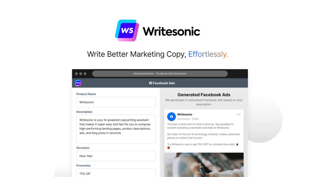 Writesonic | AI-Powered Copywriting Assistant 1