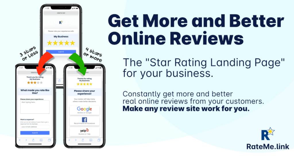 RateMe.link | Get More Positive Reviews 1
