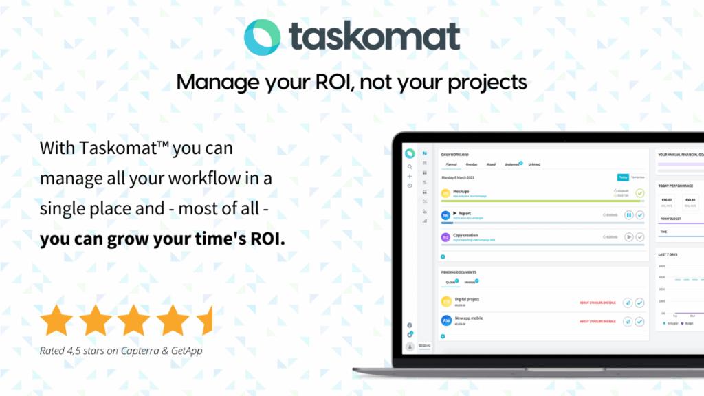 Taskomat | ROI Management Platform 1