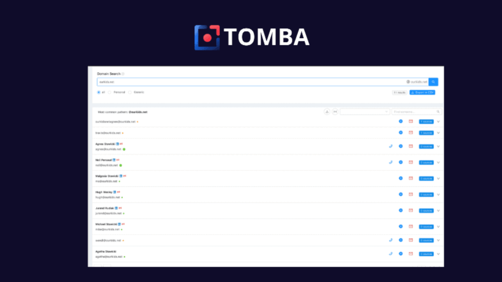Tomba | Find Email Addresses in Seconds 1
