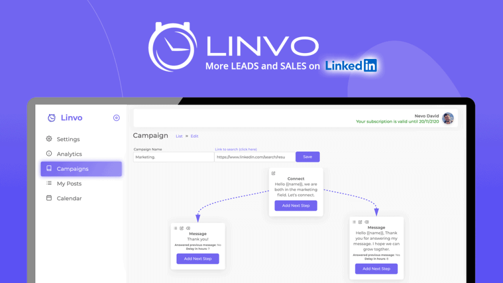 Linvo | Linkedin Growth Automation Tool 3