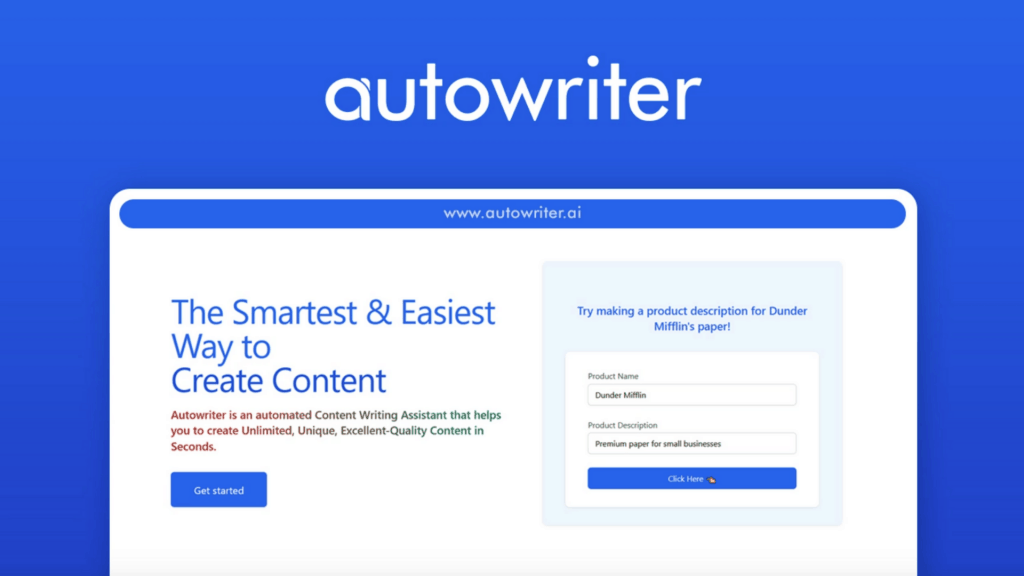 AutoWriter | An Automated AI Content Writing Assistant 1
