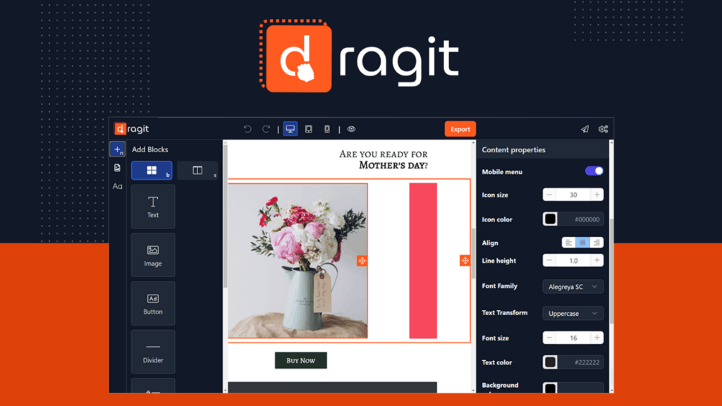 Dragit | Simplest and Fastest Email Editor 1