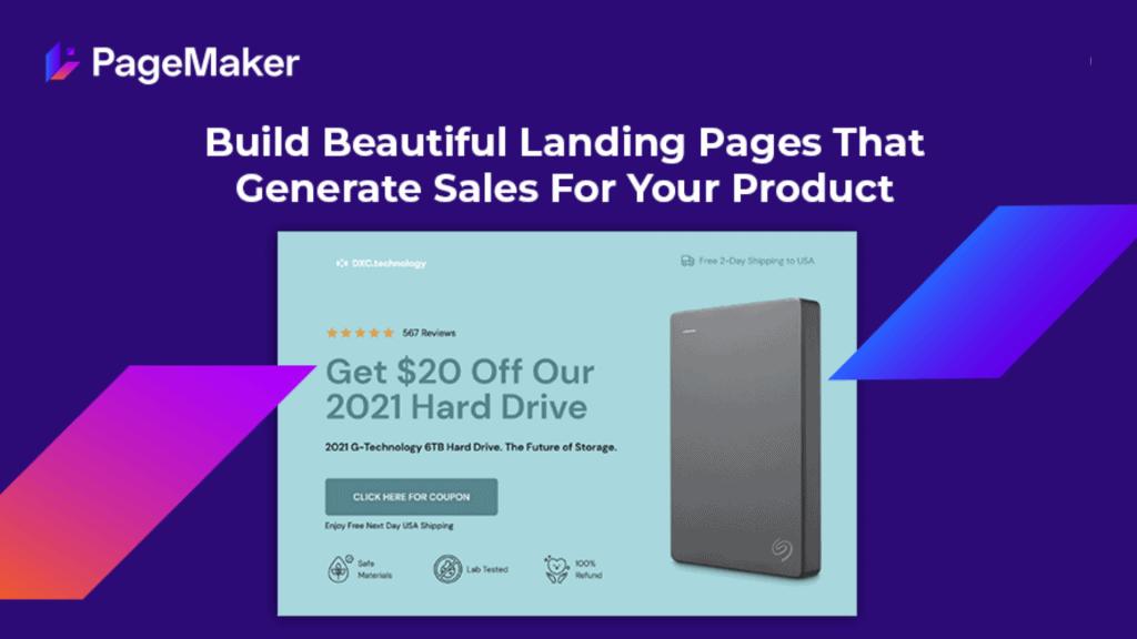 PageMaker | Landing Page Builder Designed for E-Commerce 1