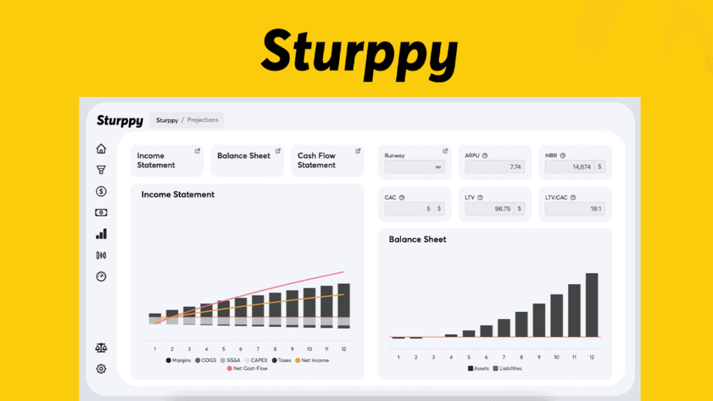 Sturppy | Create the Financial Model for your Startup 1