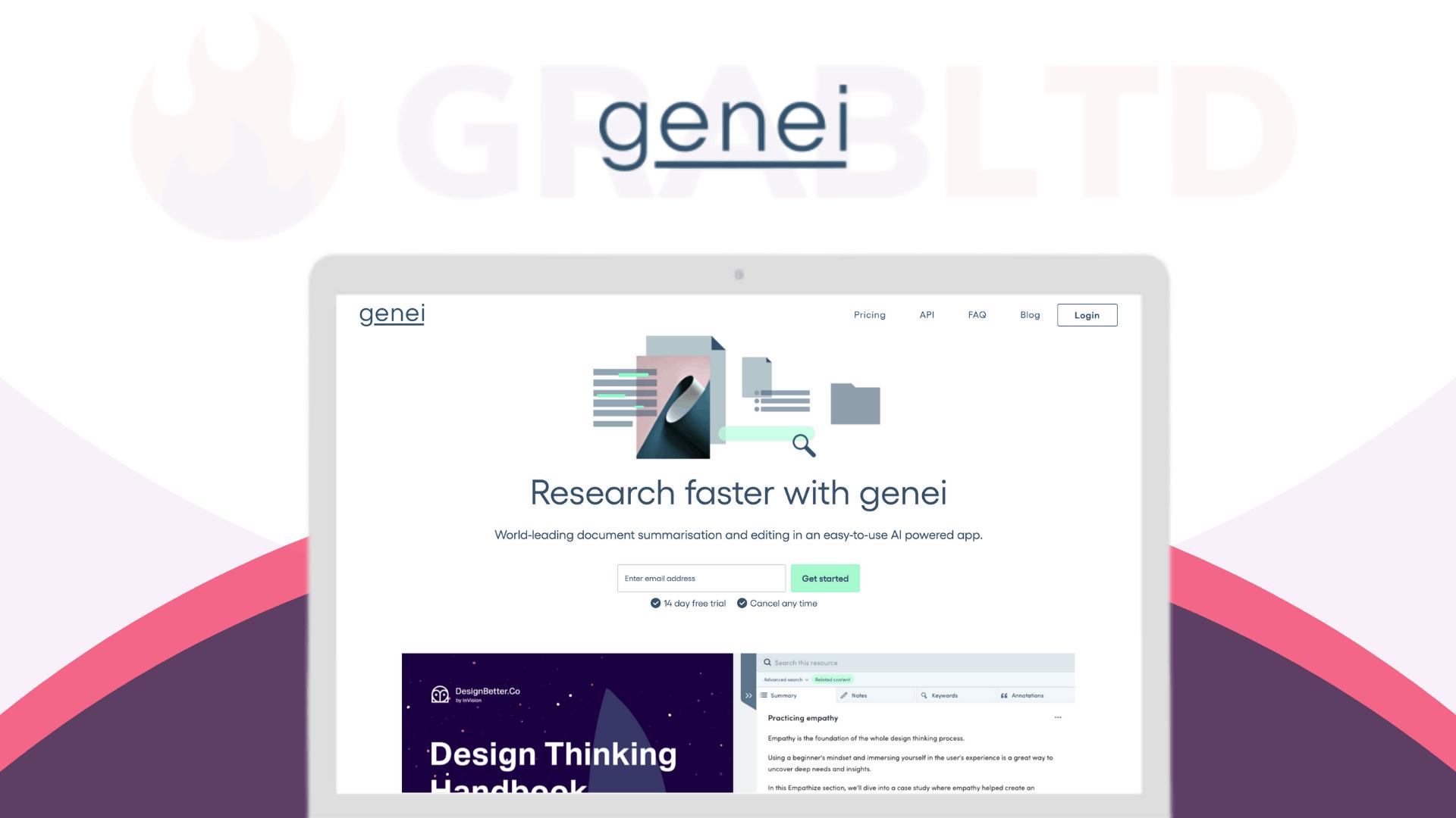 Genei   AI-Powered Summarisation & Research Tool 1