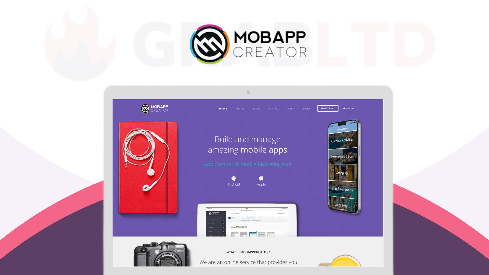 MobAppCreator | The #1 Drag & Drop Mobile App CMS 1