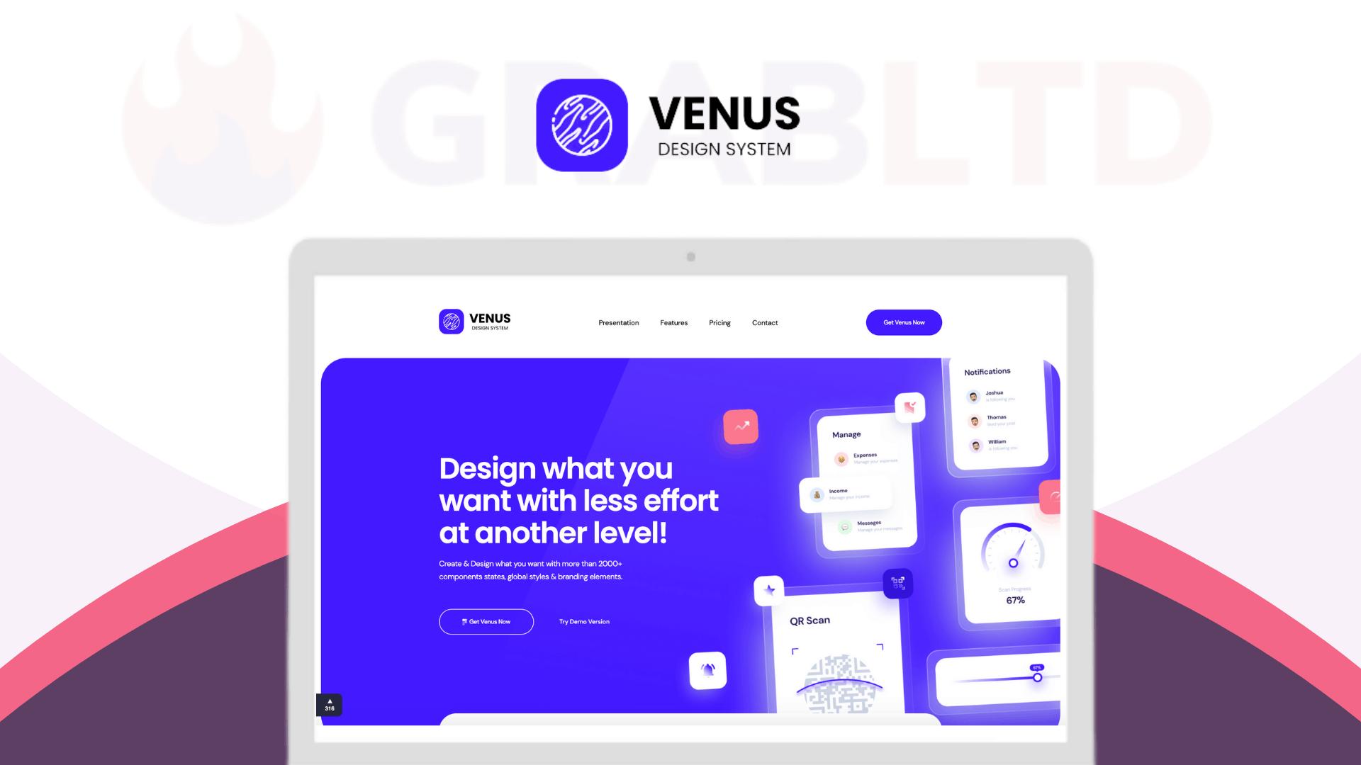 Venus Design System | Create Amazing Dashboard Designs 1