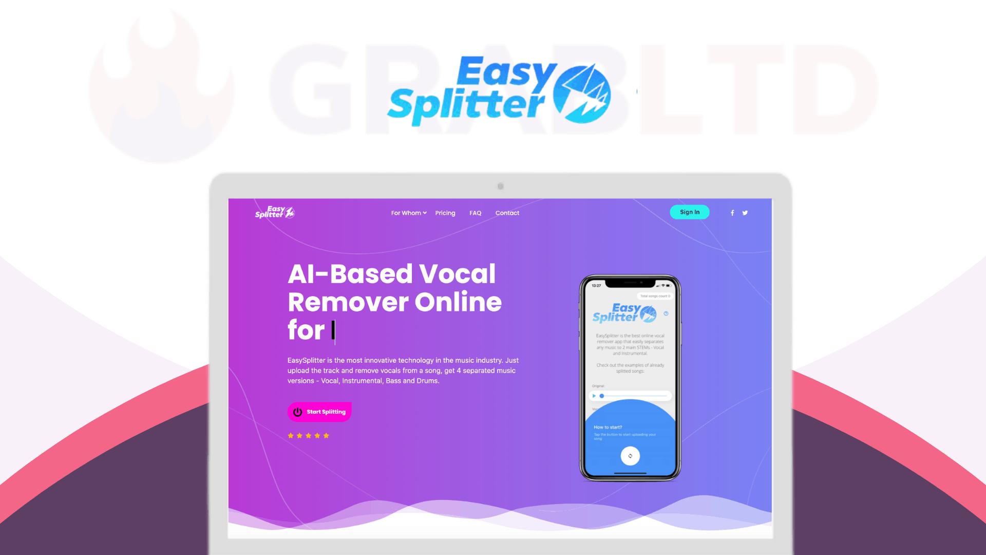 EasySplitter | AI-Based Vocal Remover Online 1