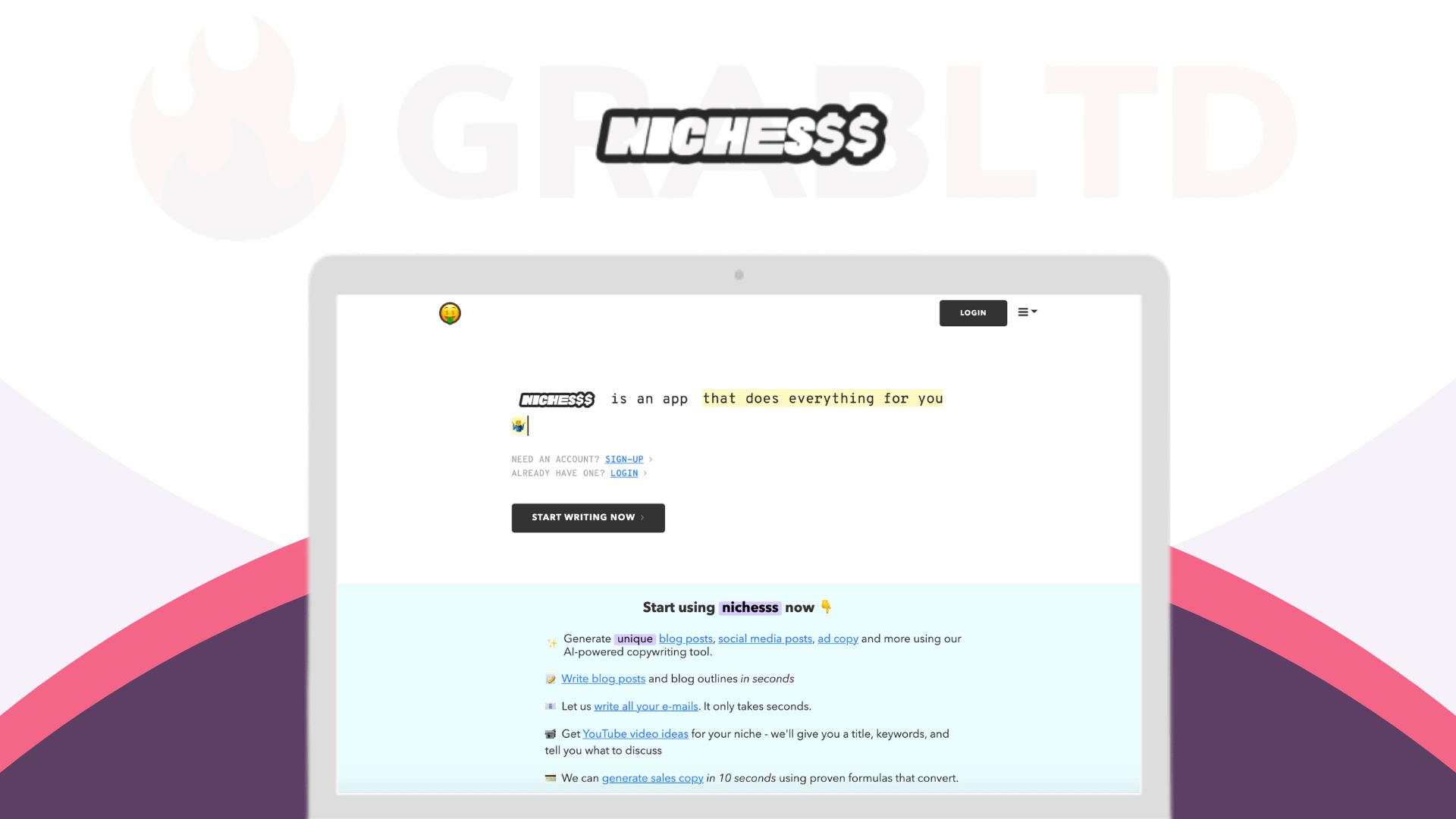 Nichesss | AI Marketing Copy Generator Tool 1