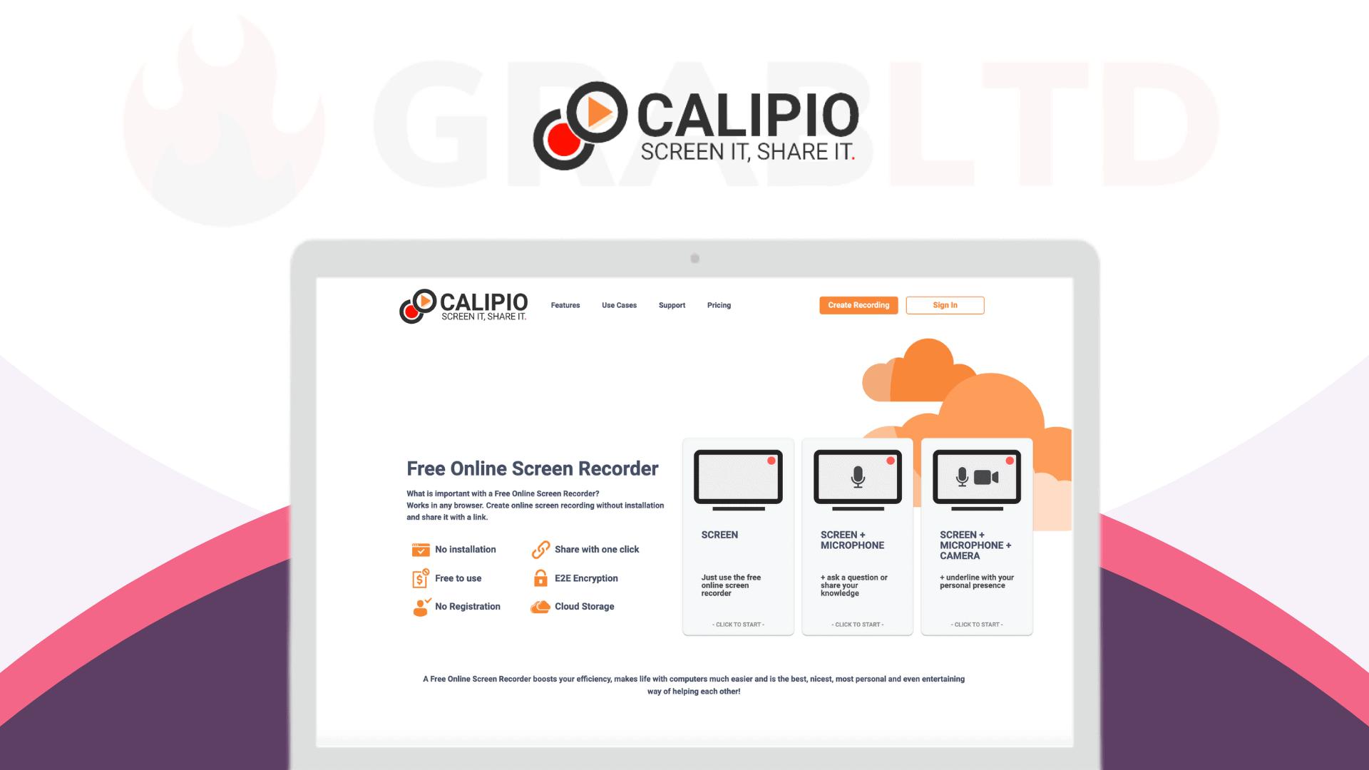 Calipio | Online Screen Recorder Tool 1