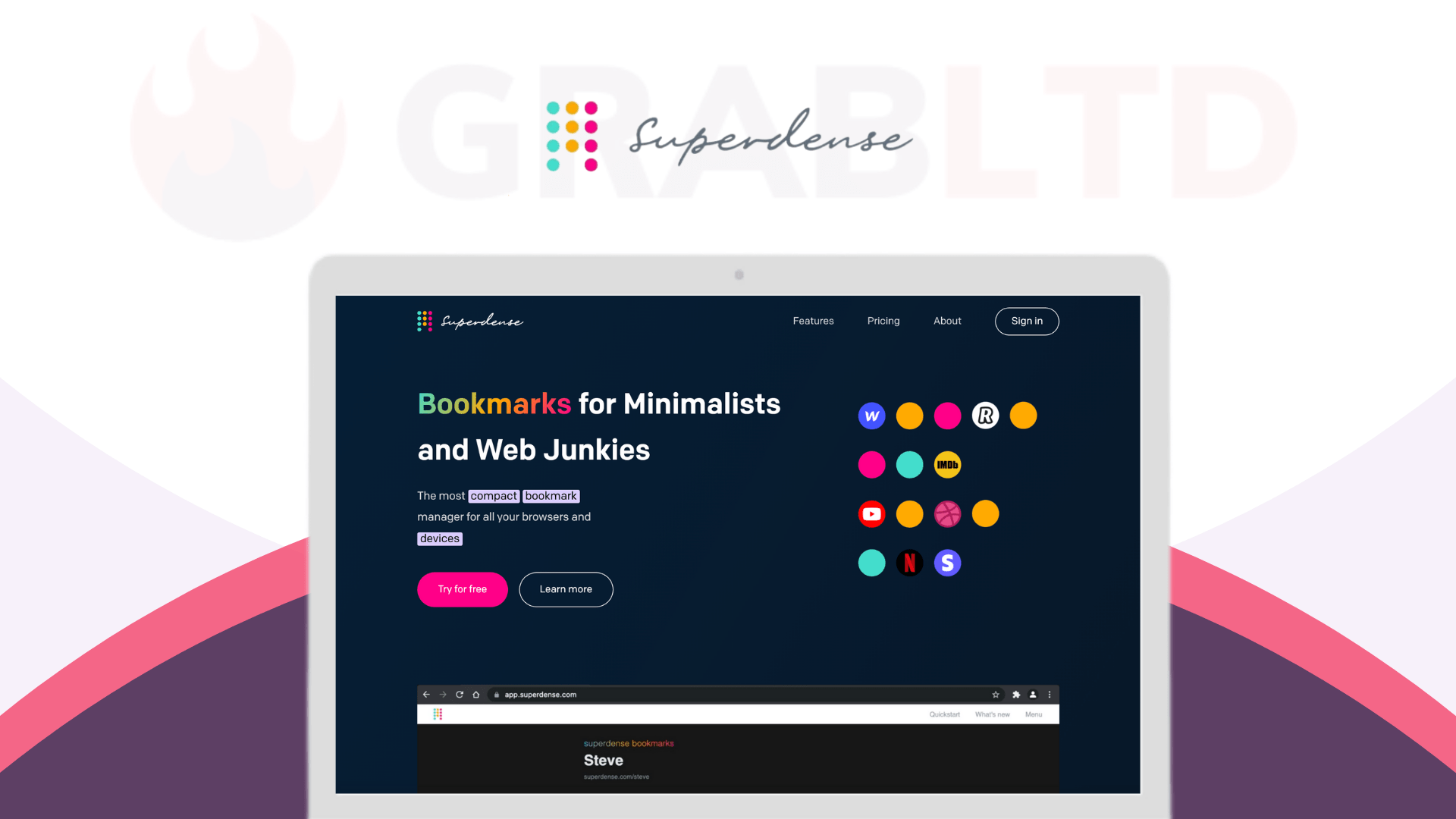 Superdense   Bookmark Manager For All Your Browsers 1