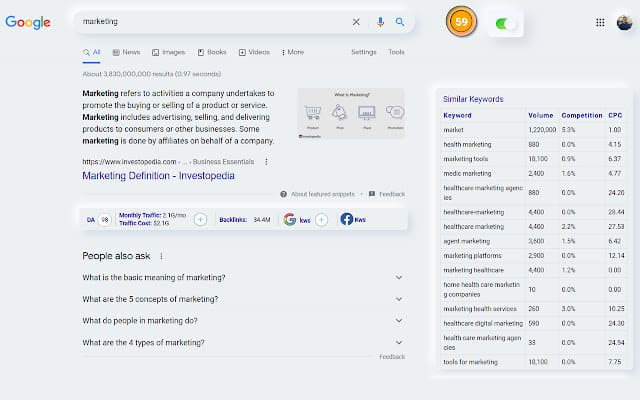 SeoView | Visualize All Data From The SERP 2