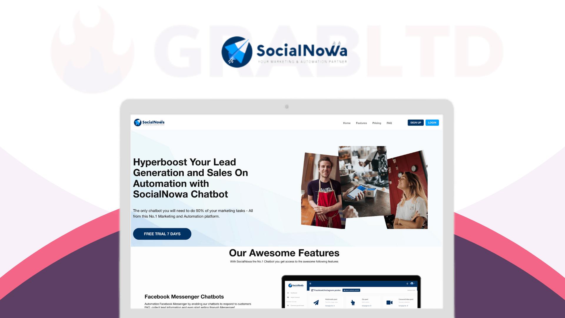 SocialNowa   Social Media Marketing Automation 1